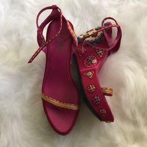 Sam Edelman wedge sandals. Sz 9.5